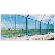 钢板网浸塑栏栅工程