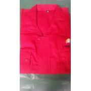 小帆布红工衣